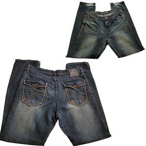Ring of Fire Distressed Medium Wash Denim Jeans